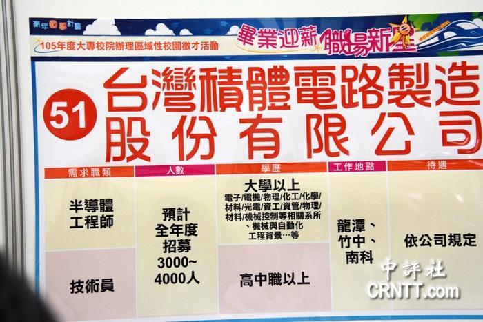 中國評論新聞:南臺灣70廠商徵才 1/3在陸設廠
