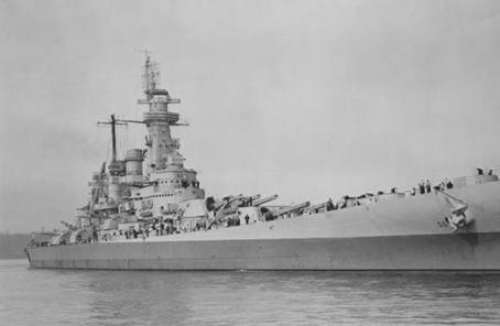 """揭秘二戰日軍為何害怕""""華盛頓""""號戰列艦"""