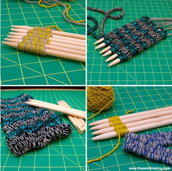 Clover Weaving sticks