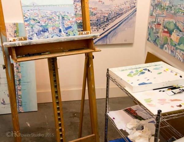 Easel and Palette