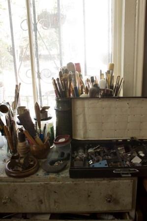 Brush and material storage-Hirona's home Studio