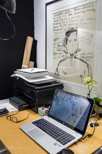 Artist Desk with Nancy Drew Artwork