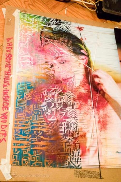 Lala's woven photo's