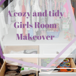 A cozy and tidy girls room makeover