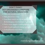 Don't PANIC-PREPARE for natural disasters