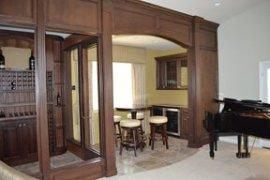 Wine Storage Room Addition in San Diego Home