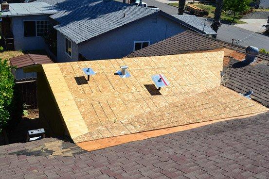 Roof maintenance on San Diego home.