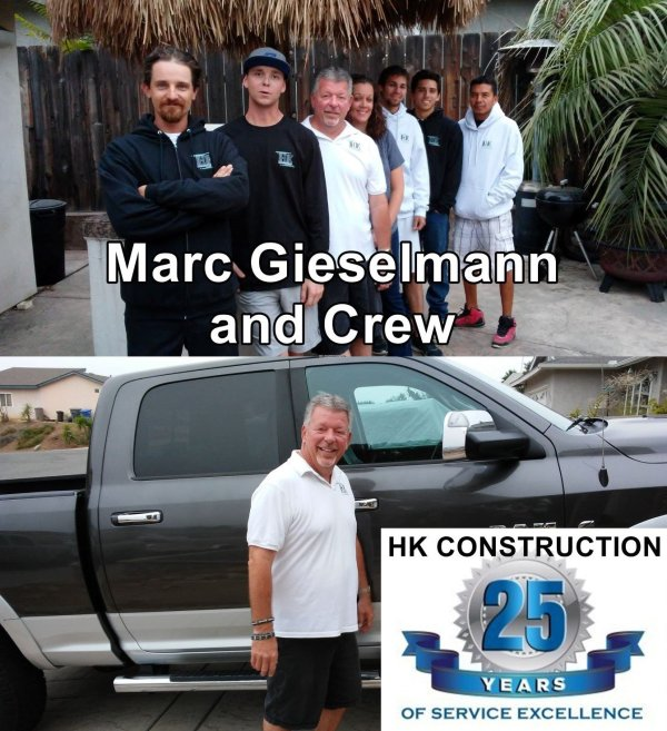 Trust and Integrity are important to Marc and Crew at HK Construction San Diego.