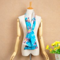 15 Beautiful Flowers Print Silk Scarf For Spring ...