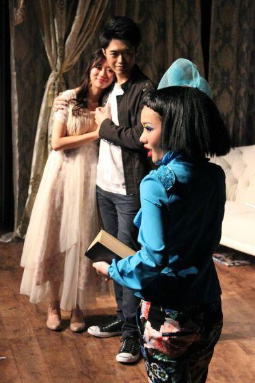 Joyce Cece Chan (Henriette), Christopher Tsui (Sebastian) and Rosalind Wong (Justine)
