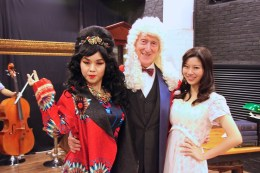 Minna Cheung (Pamela), David Parker (The Notary) and Joyce Cece Chan (Henriette)