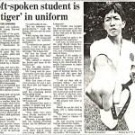 賽後有關梁伯偉師傅的報章報導 A newspaper clip on Sensei Patrick P. W. Leung after the tournament
