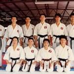 本會參賽運動員在新加坡糸東流空手道本部道場攝 Competitors from our Association, at the Singapore Shitoryu Karate Association Honbu Dojo
