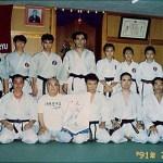 大阪養秀館本部世界糸東流空手道連盟宗家摩文仁賢榮師範〔中〕 Sensei Kenei Mabuni [middle] - Soke of World Shitoryu Karatedo Federation, Yoshukan Honbu Dojo, Osaka
