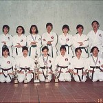 本會女子隊囊括套拳冠、亞、季軍及搏擊亞、季軍 Women's teams from our Association won the first, second and third prizes in the women's team kata as well as the second and third prizes in the women's team kumite