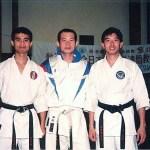梁伯偉師傅及黃家棟師傅與世界冠軍西村誠司師範合照  Sensei Patrick P. W. Leung, Sensei Sunny K. T. Wong with World Champion Sensei Seiji Nishimura