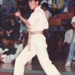 本會林潤疇在進行套拳比賽 Mr. Lam Yun-chow, member of our Association, in a kata competition