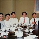 集訓隊與今西俊之師範〔右三〕和川田勝彥師範〔右二〕合照 The training team, with Sensei Toshiyuki Imanishi [3rd on the right] and Sensei Katsuhiko Kawata [2nd on the right]