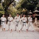 集訓隊於大阪住吉大社公園練習 The training team, training at the Sumiyoshi Garden, Osaka