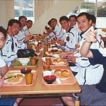 香港糸東流空手道代表隊在選手村進食早餐 Hong Kong Shitoryu National Team, having breakfast at the canteen of the Olympic Village