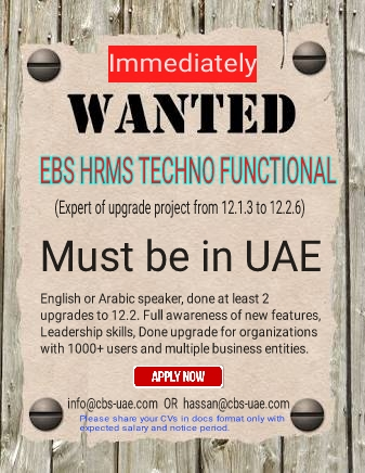 Required Immediately Techno Functional Consultant  a step towards PEACE