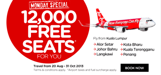 air asia free seats kul