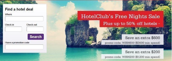 hotel club free night discount