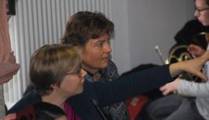 Judith Kunz und Sabine Müller-Wendt, die Initiatorinnen des Flashmobs.