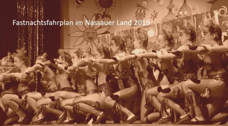 Fastnachtsfahrplan Nassauer Land 2019