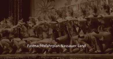 Fastnachtsfahrplan Nassauer Land