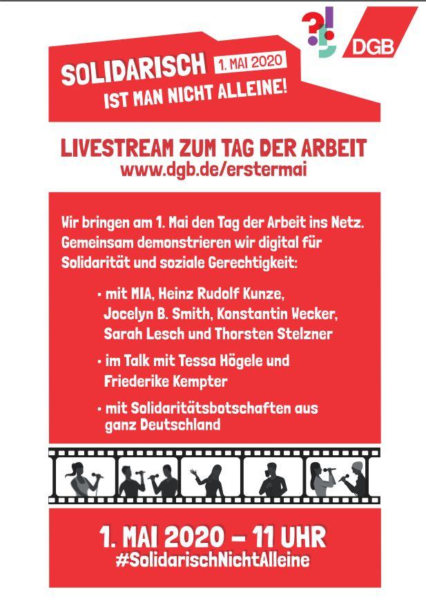 DGB 1. Mai 2020 Live