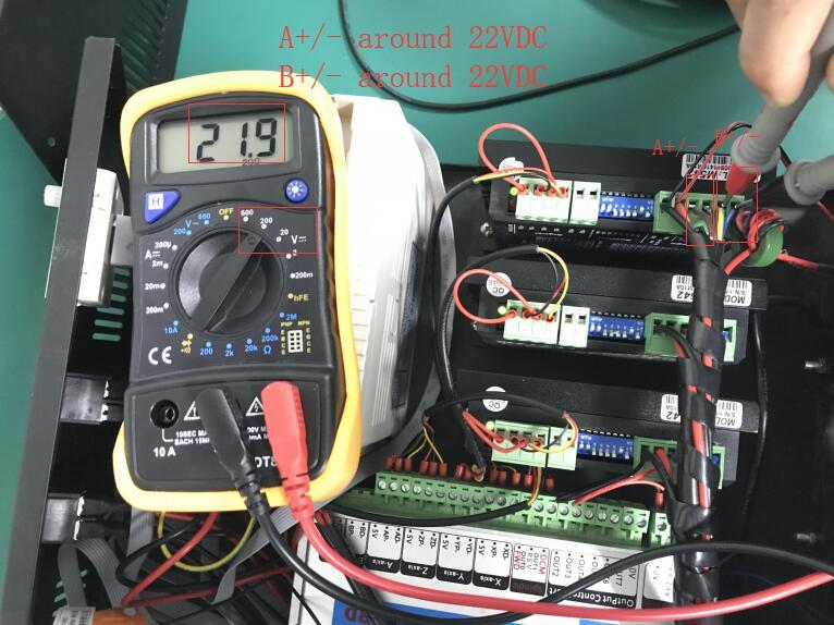 stepper driver output voltage