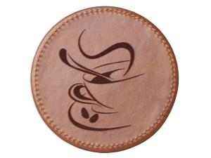 HL-laser-leather-coaster-laser-engraving-leather