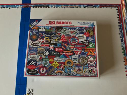 Ski badges puzzle