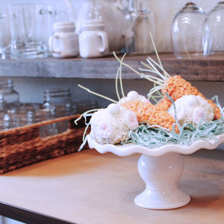 Easter carrot Rice Krispies treats