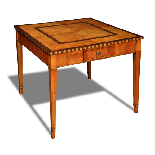 Antique Inlaid Game Table