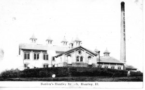 Huntley History at Illinois Digital Archives - Bordens-Milk-Factory-Circa-1907
