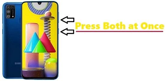 How to take Screenshot in Samsung M31