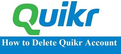 How To Delete Quikr Account