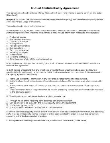 Agreement Letter Between Two People : agreement, letter, between, people, Sample, Agreement, Templates, Microsoft, Hloom