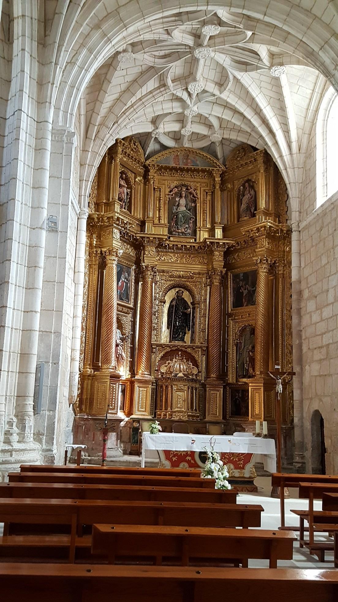 Main altar in town church.
