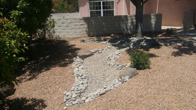 dry-bed-arroyo-landscaping-services-rock-lawn-care-maintanence-albuquerque-rio-rancho
