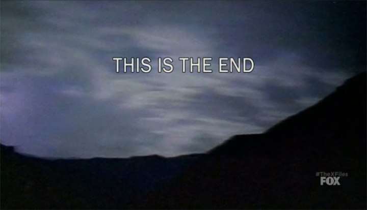 "The title card for the Season 10 Finale, ""My Struggle II,"" is shown. It reads ""THIS IS THE END."""