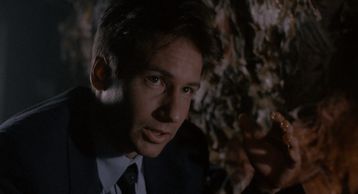 Mulder is grossed out by bile in Squeeze