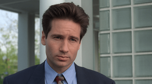 Mulder looks annoyed because he doesn't know what's best for him.