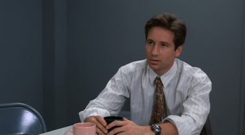 Mulder makes an incredulous face.