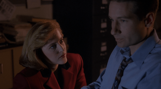 Scully tries to talk to Mulder, but he's not ready to listen.