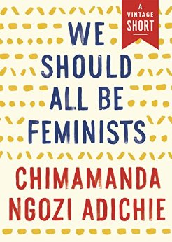 The cover of We Should All Be Feminists is shown.