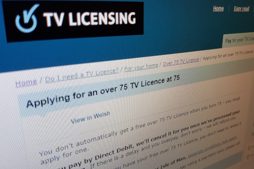 TV License application for over 75s