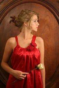 senior pic with rose 2